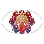 kuuma baphomet Sticker (Oval 10 pk)