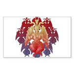 kuuma baphomet Sticker (Rectangle 50 pk)