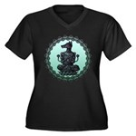 dog Women's Plus Size V-Neck Dark T-Shirt