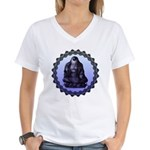 single eye Women's V-Neck T-Shirt