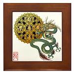 dragon mandala 1 Framed Tile