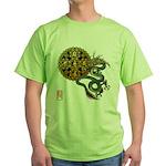 dragon mandala 1 Green T-Shirt