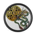 dragon mandala 1 Large Wall Clock