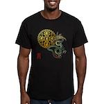 dragon mandala 1 Men's Fitted T-Shirt (dark)