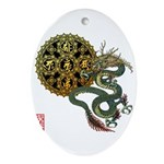 dragon mandala 1 Ornament (Oval)