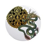 dragon mandala 1 Ornament (Round)