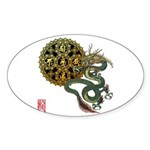 dragon mandala 1 Sticker (Oval 50 pk)