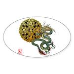dragon mandala 1 Sticker (Oval)