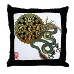 dragon mandala 1 Throw Pillow