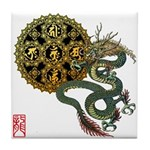 dragon mandala 1 Tile Coaster