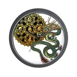 dragon mandala 1 Wall Clock