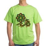 ryu bonji 1 Green T-Shirt