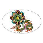 ryu bonji 1 Sticker (Oval 50 pk)