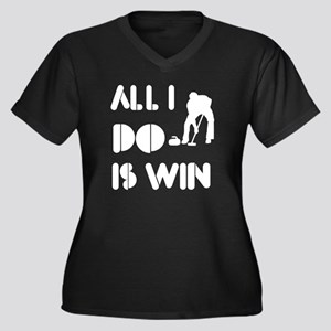 All I do is Win Curling Women's Plus Size V-Neck D