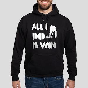 All I do is Win Curling Hoodie (dark)