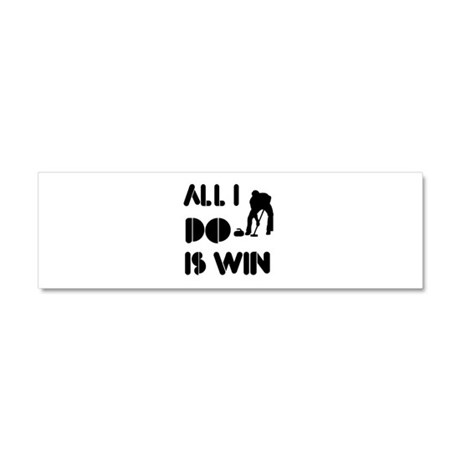 All I do is Win Curling Car Magnet 10 x 3