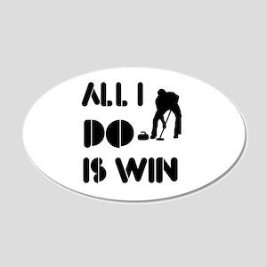 All I do is Win Curling 22x14 Oval Wall Peel