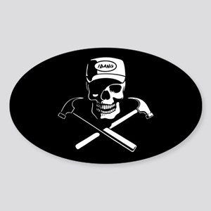Carpenter of the Caribbean Sticker (Oval)