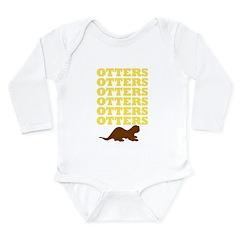 OTTERS OTTERS OTTERS Long Sleeve Infant Bodysuit