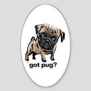 Got Pug Oval Sticker