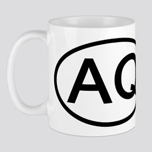AQ - Initial Oval Mug