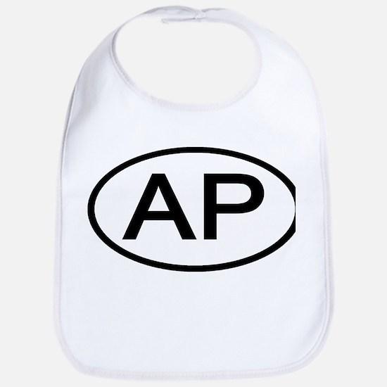 AP - Initial Oval Bib