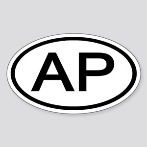 AP - Initial Oval Oval Sticker