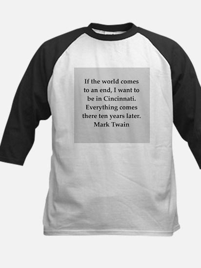 Mark Twain quote Kids Baseball Jersey