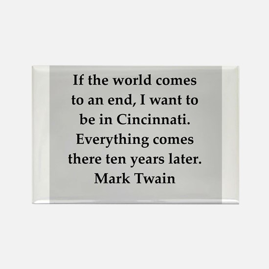 Mark Twain quote Rectangle Magnet