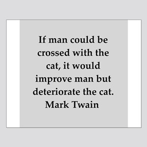 Mark Twain quote Small Poster