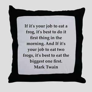 Mark Twain quote Throw Pillow