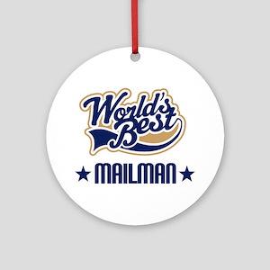 Mailman Gift Ornament (Round)
