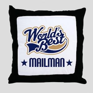 Mailman Gift Throw Pillow