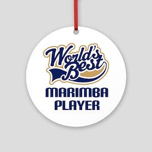 Marimba Player Gift Ornament (Round)