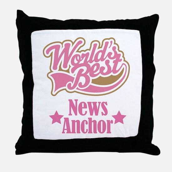 News Anchor Gift Throw Pillow