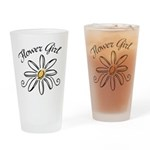 Flower Girl Drinking Glass