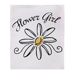 Flower Girl Throw Blanket
