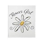 Flower Girl Throw Blanket