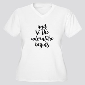 and so the adventure begins Plus Size T-Shirt