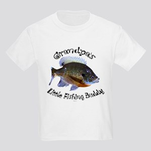 Grandpa's Little fishing budd Kids Light T-Shirt