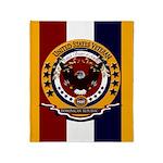 Dominican Republic Veteran Throw Blanket