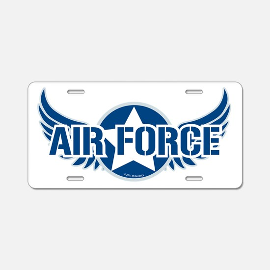 Air Force Wings Aluminum License Plate