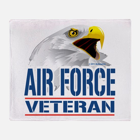 Air Force Veteran Eagle Throw Blanket