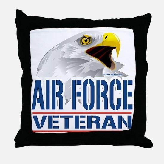 Air Force Veteran Eagle Throw Pillow