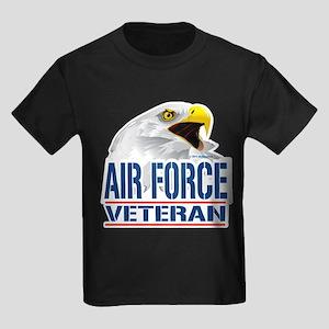 Air Force Veteran Eagle Kids Dark T-Shirt