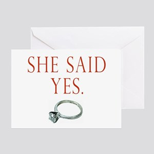 She Said Yes Greeting Card