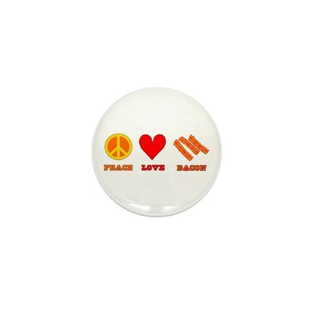 Peace Love Bacon Mini Button (100 pack)