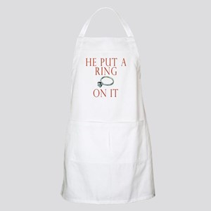 He Put a Ring on It Apron
