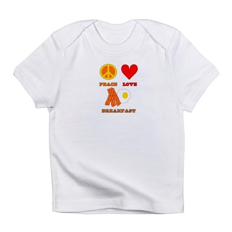 Peace Love Breakfast Infant T-Shirt