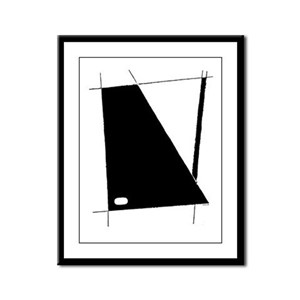 """Modern Abstract"" Framed Panel Print"